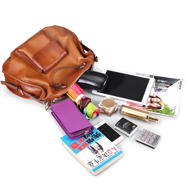 Go Meetting Luxury Brand Genuine Leather Women Handbags High Quality Cowhide Women Shoulder Bag Vintage Crossbody Messenger Bags
