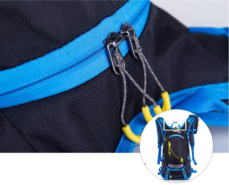 mochila unissex de náilon para ciclismo, caminhadas,