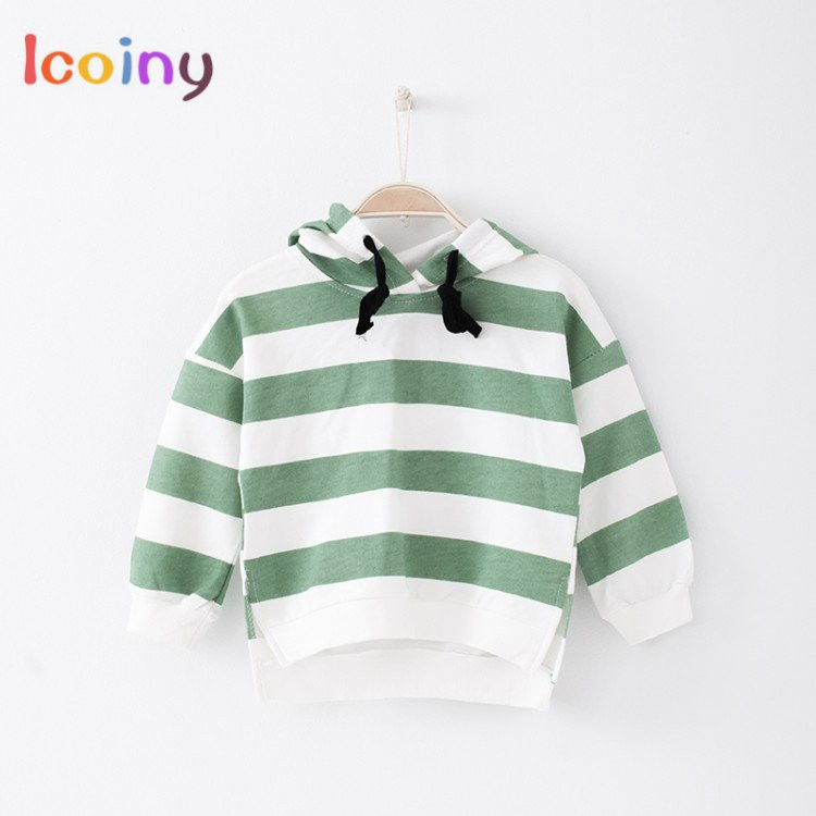 Children Hoodies 2018 Brand Coats Long-sleeved Girls Sweatshirts Toddler Boy Casual Sweater Hoodies Baby Girl Striped Clothes