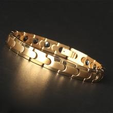 Red Copper Magnetic Bracelet for Men Women 2 Row Magnet Healthy Bio Energy Bracelets & Bangles 2019 Father's Day Gift все цены