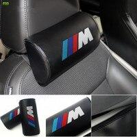 2PCS Car Headrest Neck Safety Pillow For BMW M E46 E90 E60 E39 E36 F10 F30