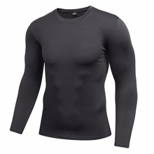 Mens Quick Dry Fitness Compression Long Sleeve Runnning Shirt Baselayer Body Under Shirt Tight Sports Gym Wear Top Shirt душевой набор гарнитур hansgrohe croma 100 multi porter s 27595000 хром
