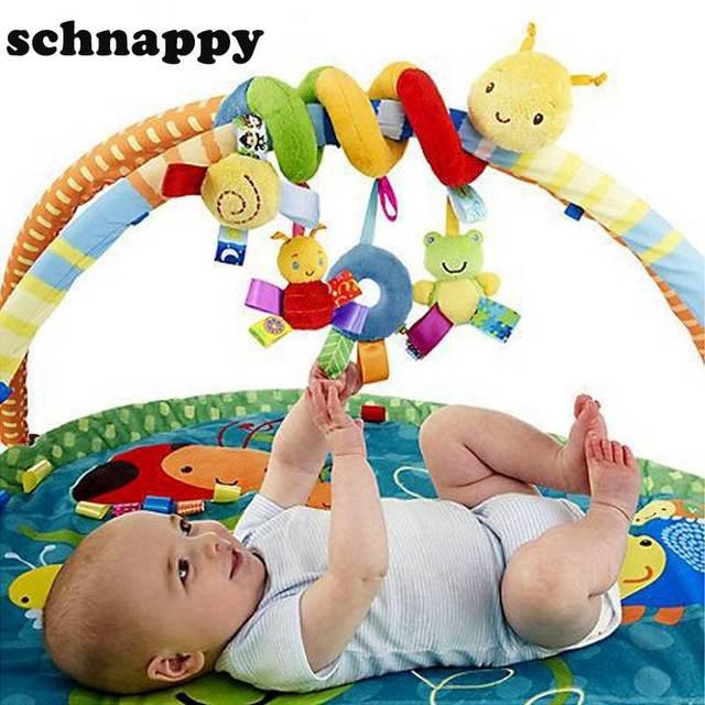 Newborn Baby Toys : Baby toys newborn infant crib revolves around bed