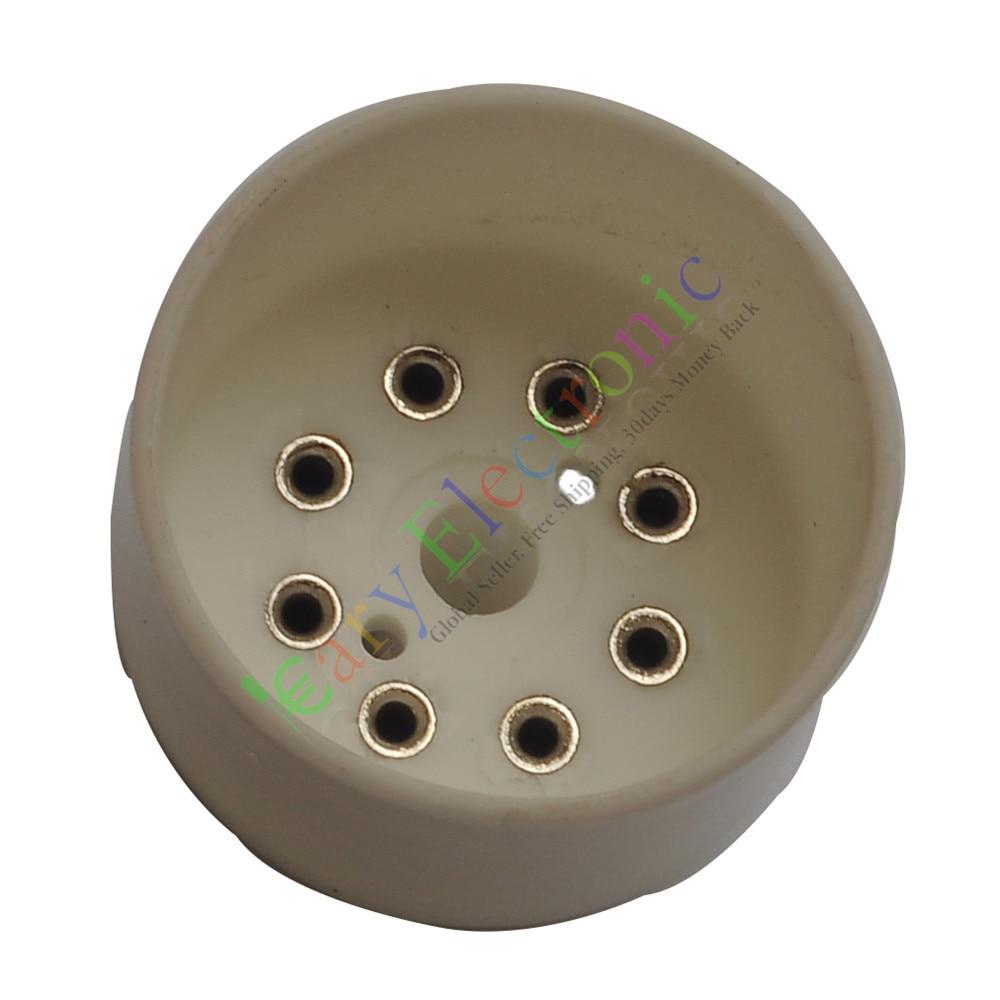 Оптом и в розницу 20 шт. 8Pin керамики розетки ламповые базы для KT88 EL34B аудио усилители Гитара DIY Бесплатная доставка