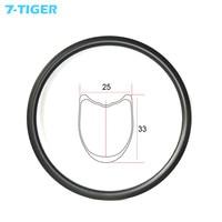 700c 33mm depth tubular U shape road disc brake carbon rim 25 mm width 20 24 28 32 36 holes UD 3K 12K wheelset