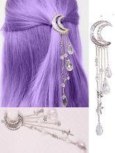 Crystal Moon Hair Clip