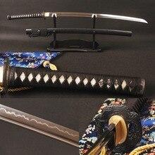 Traditional Handcraft Samurai Sword Vintage Japanese Katana Sharp Full Tang 1095 Carbon Steel Clay Tempered Blade Espada Knife