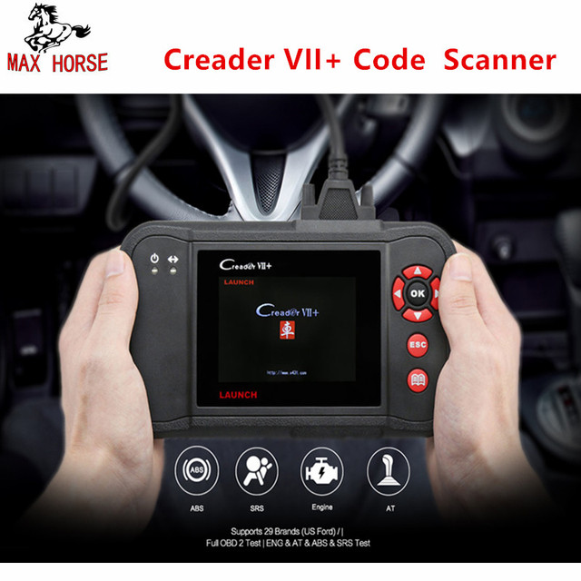 Best Offers Launch X431 Creader VII+ Auto Code Reader Creader VII Plus Update Via Offical Website OBDII Scanner Same as LAUNCH X431 CRP123