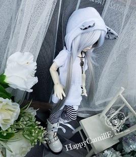 ФОТО 1/6 Bjd clothes set bjd doll clothes leopard print cat clothes set