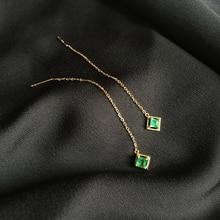 Натуральный изумруд, 0,3 карат, 18 k, твердые золотые серьги, зеленый цвет, хорошее ювелирное изделие, для свадьбы/помолвки, подарок на день Святого Валентина, дизайн, мода