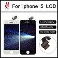 Grade aaa +++ 10 pçs/lote para iphone 5g display lcd com tela de toque substituição digitador assembléia sem dead pixel frete grátis