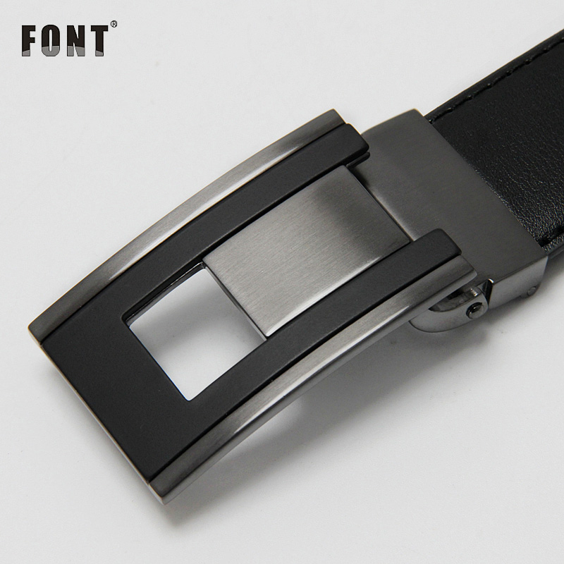 Luxury Leather Belt Men Plate Reversible Buckle men casual high quality Belts Dropship Suppliers Black Brown