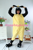 Yellow Sheep Sean Pajamas Animal Cosplay Costume Coral Women Men Kid Adult Pajamas Onesies Cartoon Sleepwear
