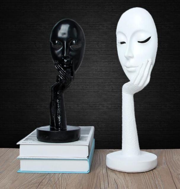 Creative Design European Abstract Character Portrait Retro Office Hall Figurine Imitate Antique Decor Miniatures Home Ornaments