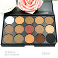 Free Shipping  Sale Eye Make Up  Different New Fashion 15 Color Matte Shimmer Pigment Eyeshadow Palette Cosmetic Set EARTH Tone