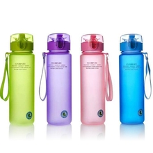 400ml 560ml BPA Free Leak Proof Sports Water Bottle High Quality Tour Hiking Portable  Bottles(China)