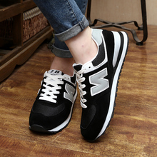 Autumn and Spring 2016 New Breathable Wild N - word Flat Womans' Shoes Casual Couple Shoes Korean Influx Men 's Shoes
