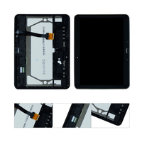 For Samsung Galaxy Tab 4 10.1 T530 T531 T535 LCD Display Touch Panel Screen Glass Digitizer Assembly + Frame