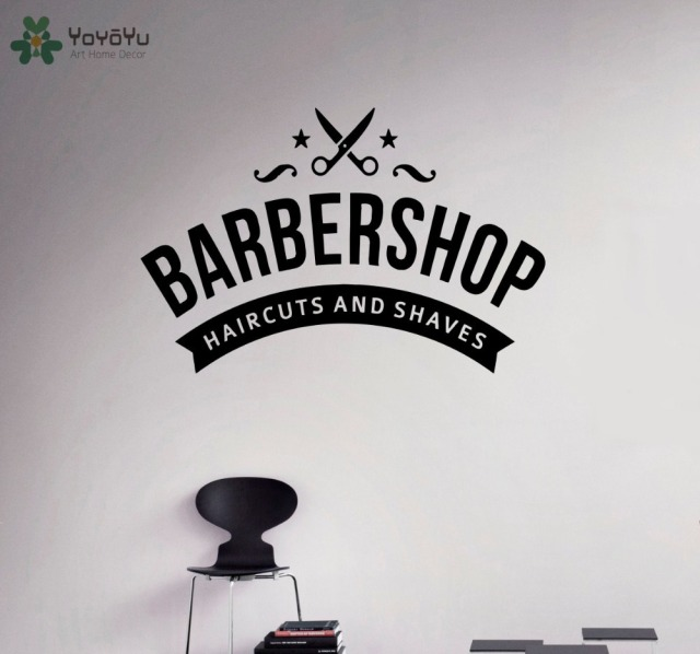YOYOYU Wall Decal Barber Shop Removable Wall Sticker Emblem - Custom vinyl wall decals for hair salonvinyl wall decal hair salon stylist hairdresser barber shop