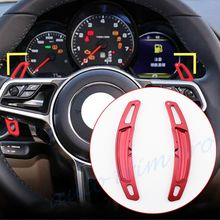 Gear Steering Wheel Shift Level Paddle Shifter PDK Cover Fit For Porsche Panamera Macan Cayenne 911 991 718 Accessories