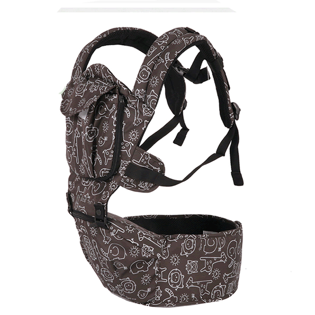 Animal Design Adjustable Cotton Baby Carrier with Front Pocket