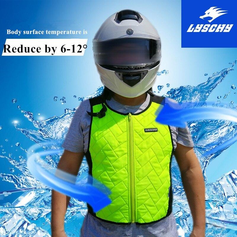 LYSCHY Summer Water Cooling Motorcycle Vest Motorbike Motocross Jacket Safety Motorbike Jacket Sports Racing Moto Vest