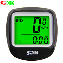 Bicycle Computer Waterproof Bike Digital Odometer Wired 23 Functions Speedometer LCD Stopwatch Cycling Schedule Bike Computer цена