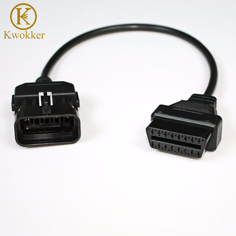 For OPEL 10Pin to 16Pin OBD2 Adapter Cable Connector Car Diagnostic tool