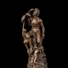 Arts Crafts Copper Famous Greek mythology Prometheus Bronze Statue Women and man nude Sculptures Antique Model Home Decor CZS-17