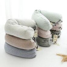 Japanese-style Light tianzhu cotton u type Cotton aircraft travel pillow neck pillow cushion waist pillow 170g Comfort недорого