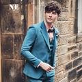brand clothing men blazer designs stage costumes for singers stylish blazer beige blue orange slim fit suit men man jackets new
