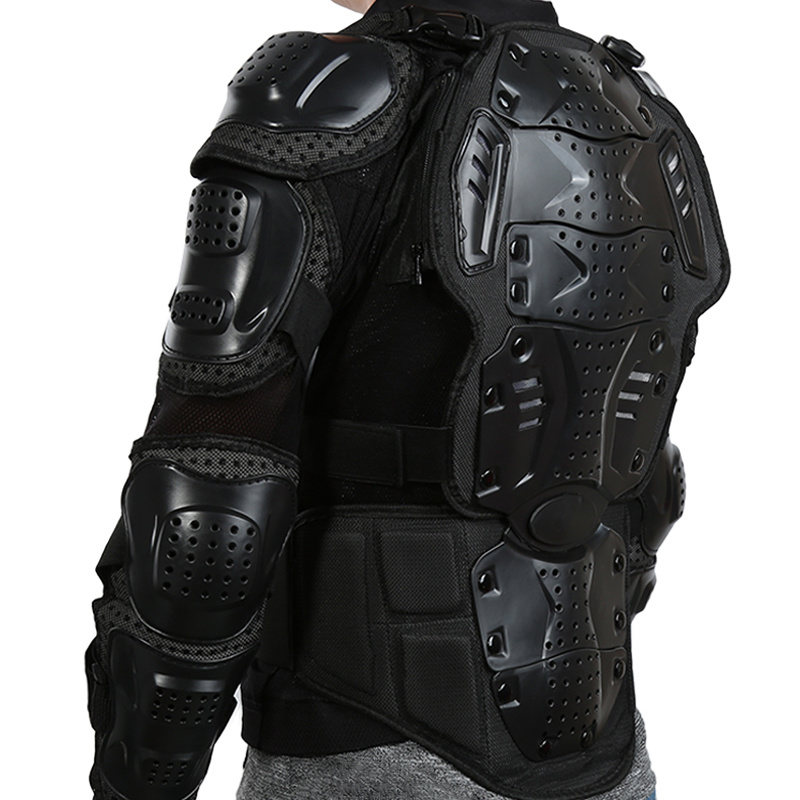 Full Body Motorcycle Armor Jacket Motocross Armor Vest Chest Gear Protective Shoulder Hand Joint Protection S-XXXL