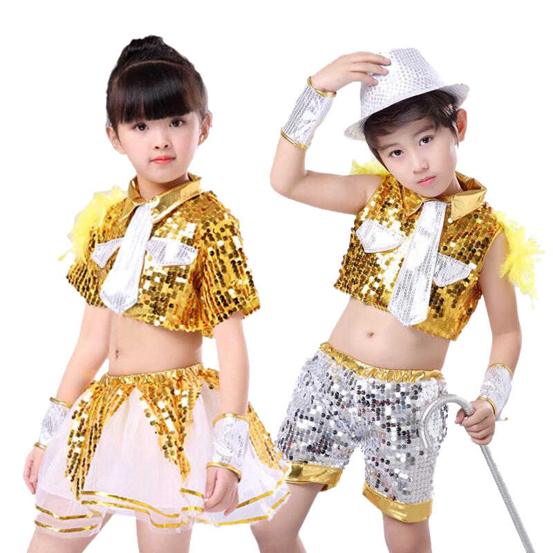Yeahdor Children Girls Boys Glitter Sequins Hip Hop Jazz Costumes Street Dance Pants Group//Solo Competition Trousers