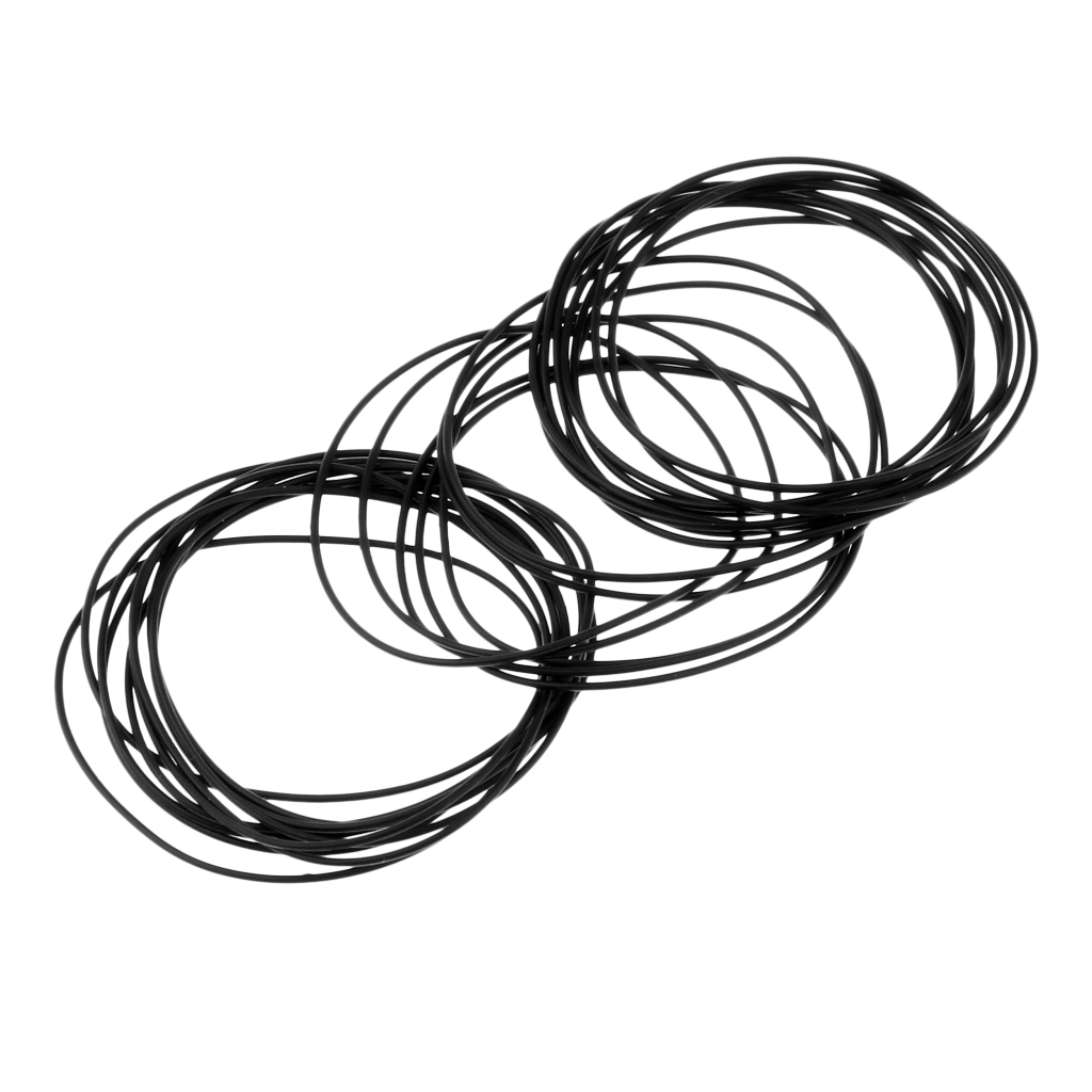 40 Pieces 0.6mm Rubber Watch Gasket Kit Washers O-Ring Back Case Seals 30mm