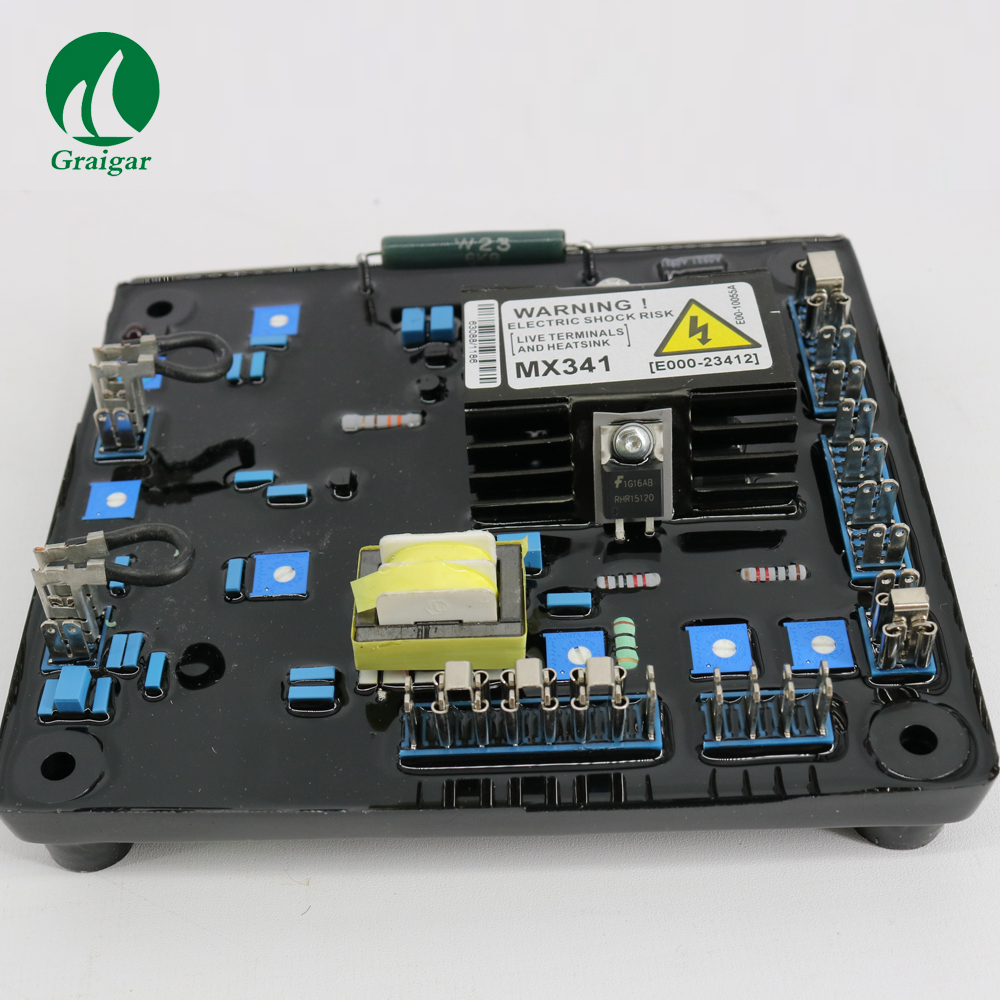 MX341 Geneartor AVR(BLUE) For use in parallel operation Generator Automatic Voltage Regulator new generator avr mx341 automatic voltage regulator from factory