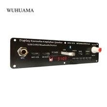 Amplificador bluetooth 3.7v 20w, microfone karaoke, reverberação, suporte aux fm, mp3, wav ape flac, usb, tf, decodificação