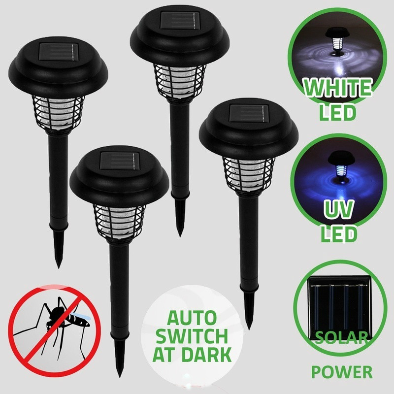 Solar Powered Mosquito Killer Lamp Bug Zapper Electronic Insect Killer Mosquito Trap Garden LED Light Lawn Home Camping Lamp akdsteel solar mosquito killer lamp waterproof light sensor solar powered high quality led mosquito killer lamp decoration