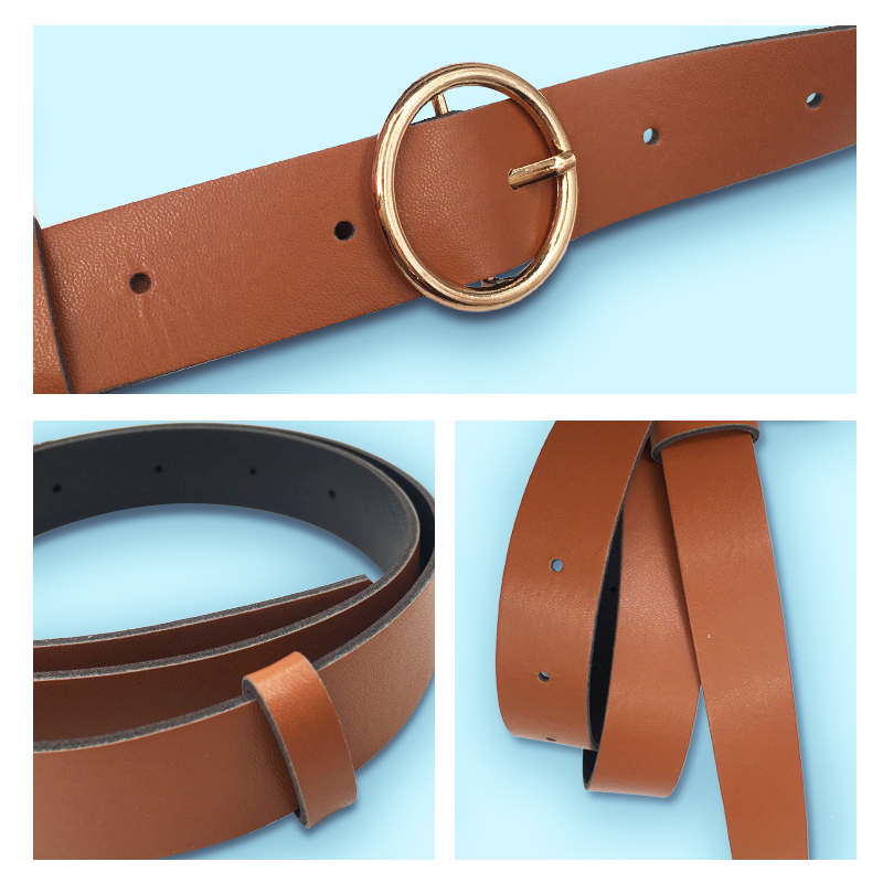HTB15MxrV9zqK1RjSZPxq6A4tVXaD - Women leather belt Newest Round buckle belts female leisure jeans wild without pin metal buckle Women strap belt