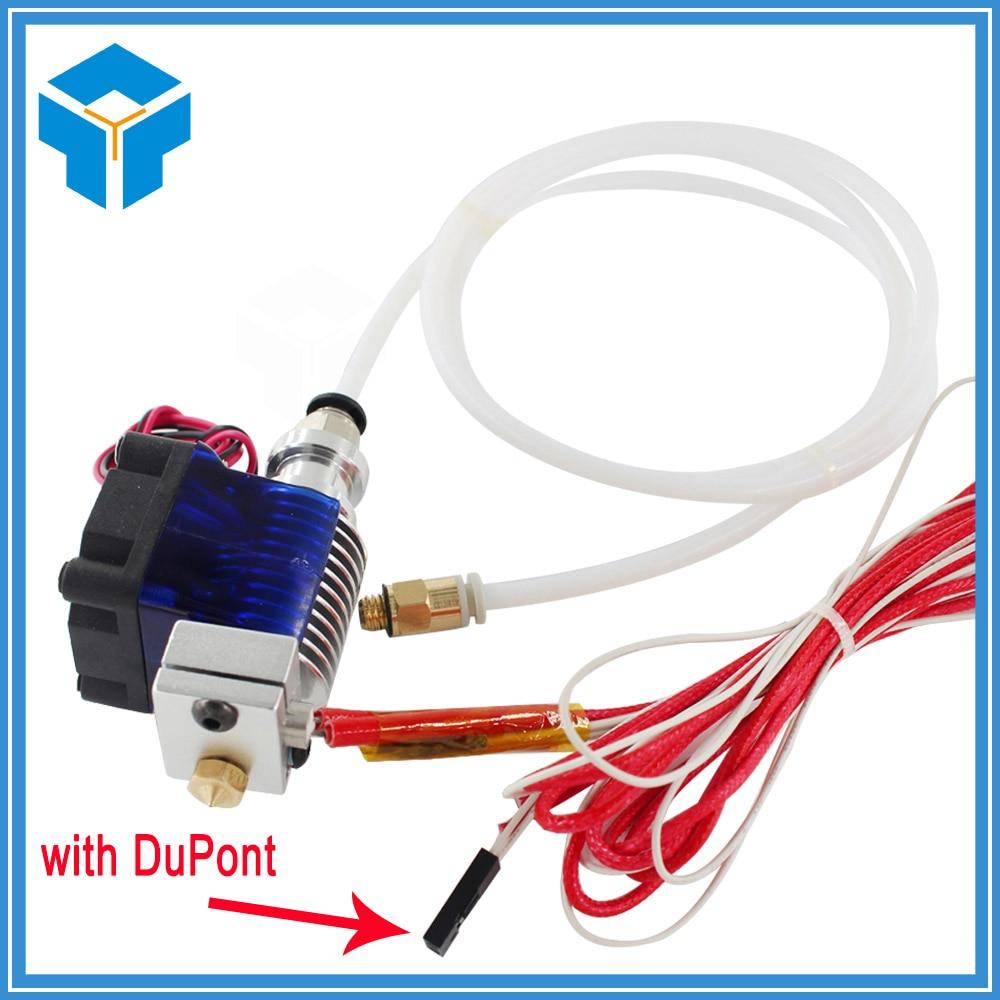 3D V6 Hot End Full Kit 1.75mm 12V Bowden/RepRap 3d printer extruder parts accessories 0.2/0.3/0.4/0.5mm Nozzle ekstruder