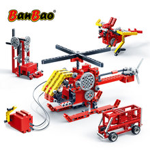 BanBao 8 In 1 Building Blocks Science Gear Electric Power Energy Machine Technic Bricks Educational Model Children Kids Toy 6901