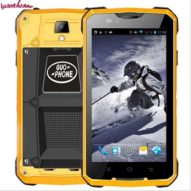 Цена за Оригинал guophone v12 водонепроницаемый противоударный телефон 5.0 дюймов android 4.4 3 г gps mtk6572 двухъядерный 1.3 ГГц 5mp 4000 мАч сотовых телефонов