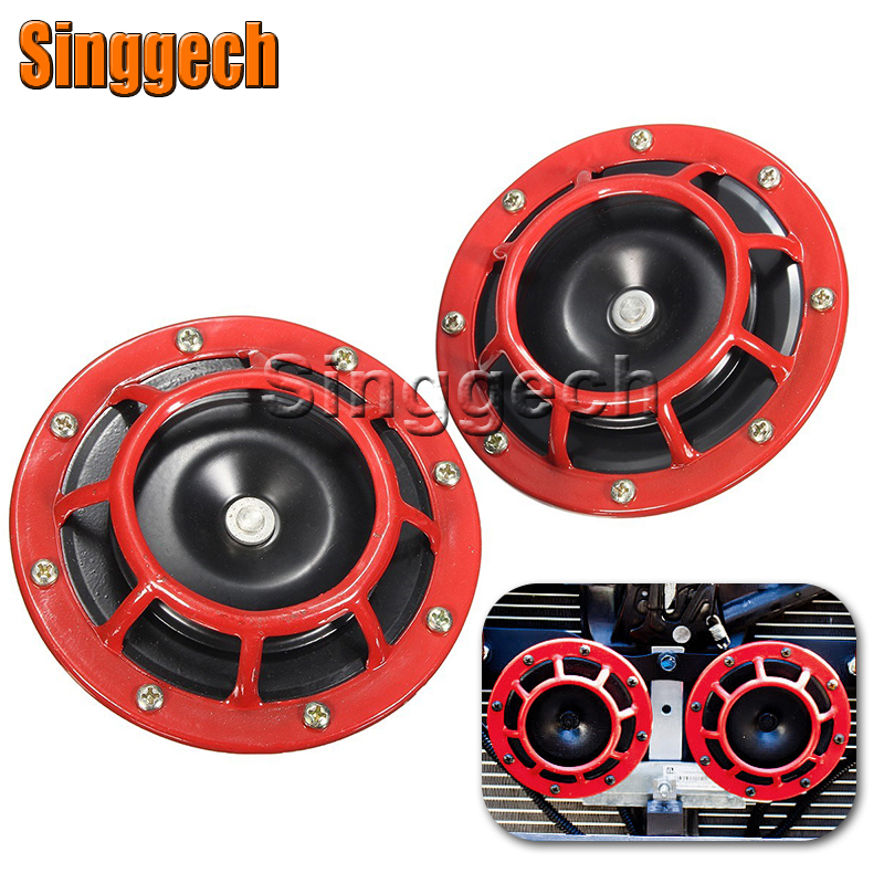 Car Red Electric Blast Tone Horn Kit For Mitsubishi ASX Lancer 10 9 Outlander Pajero For Suzuki Swift Grand Vitara SX4 Vitara