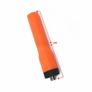 Image 2 - SF20 Arancione UV Morbido Dual Sezione SMA F Antenna per baofeng uv 5r 888 h777 puxing woxun radio