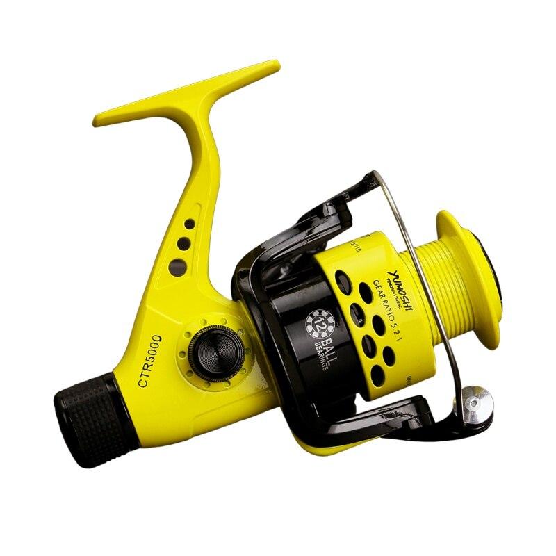 CTR2000-7000 12BB 5.5: 1 moulinet de pêche pliable gauche bras droit culbuteur léger arrière glisser plastique poissons roues de rotation nouveau