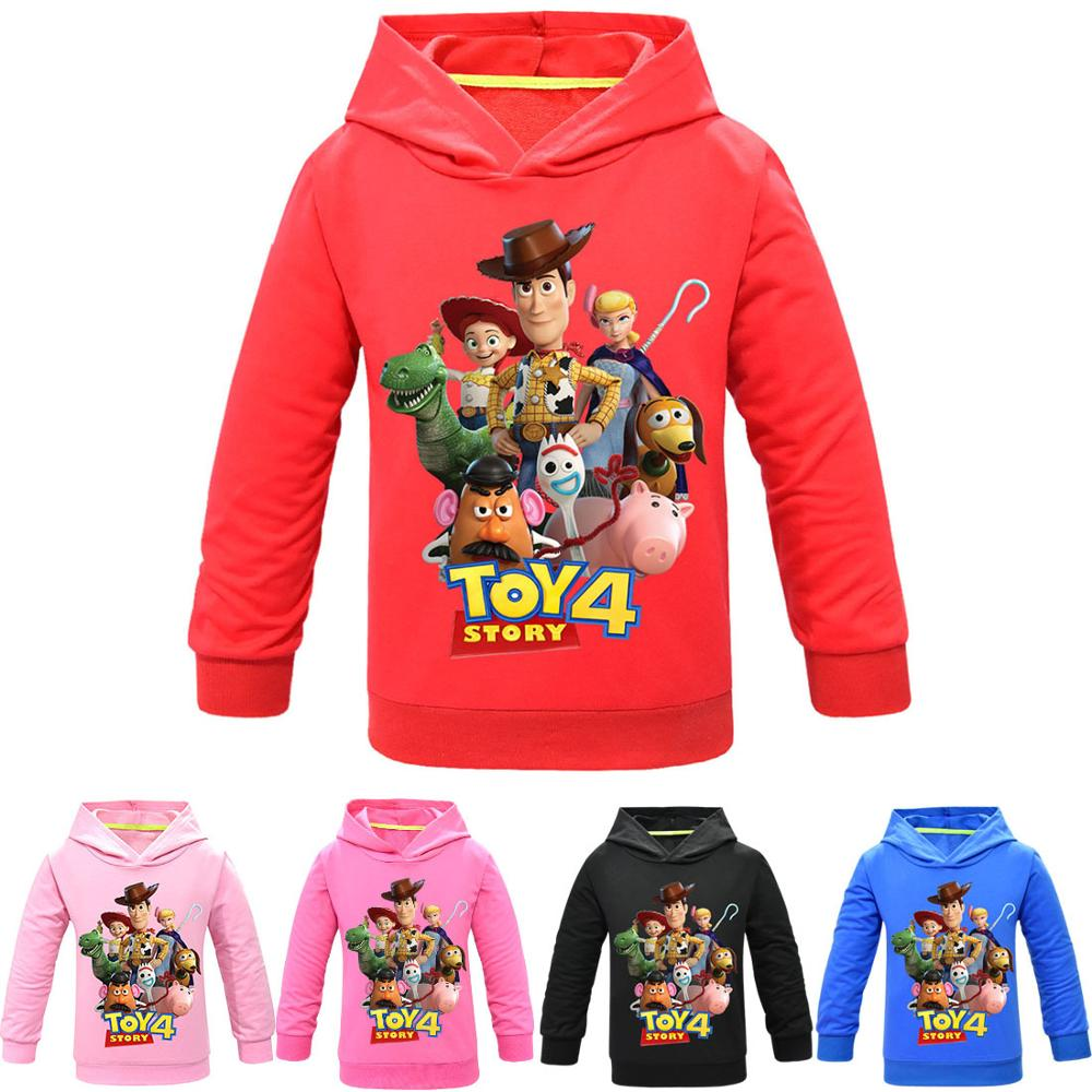Toy Story 4 Forky Alien Woody Hoodies Sweatshirt Kids T-shirt Cartoon Anime Children Tshirts Pullover Tops Boys Girls Clothes(China)