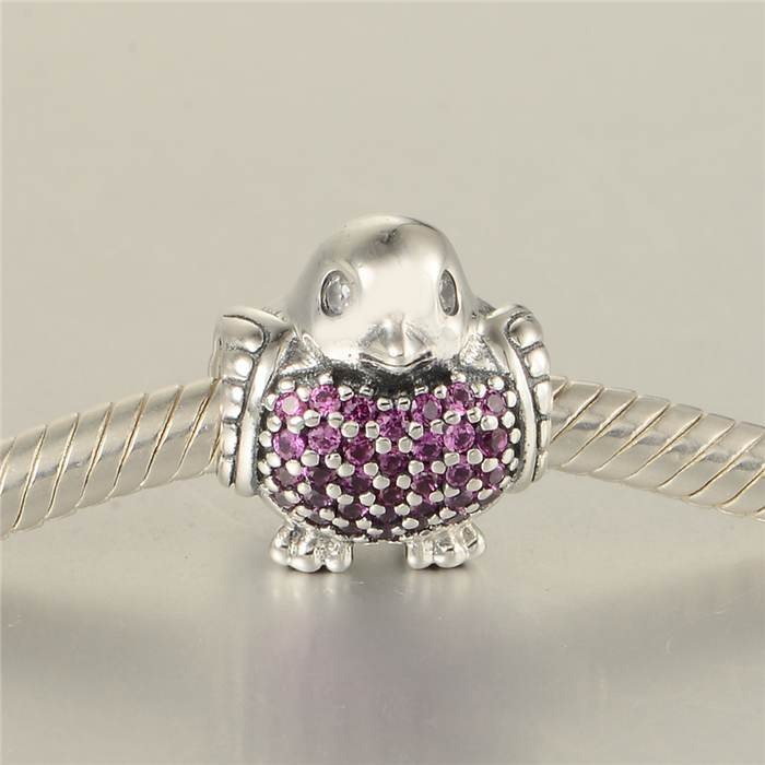e5139921b Animal Robin Charms With Red & Clear CZ Pave Bird Charm 925 Sterling Silver  beads Fit Original Pandora Charms Bracelets-in Beads from Jewelry &  Accessories ...