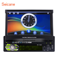 Seicane 1 Din 7 Inch Auto Touchscreen Universal Car Radio GPS Navigation Support DVD Player MP5