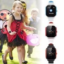 Купить с кэшбэком IP67 Waterproof Children's WIFI Smart Watch High Definition IPS Big Screen GPS+Compass+WIFI+LBS SOS Call for Help Voice