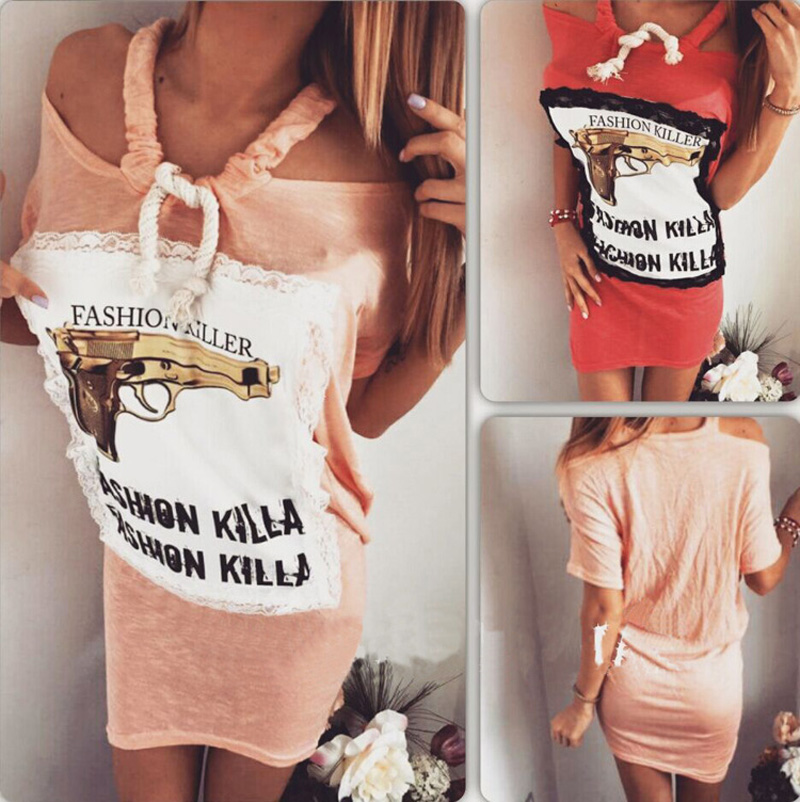 Lace dress cheap guns