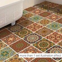 Creative New Arab Style Pattern Designer Kitchen Bathroom Wall Floor Decorative Tile Stickers Anti-slip Floor Mat Home Decor